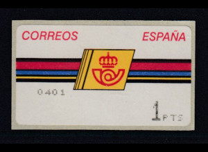 Spanien ATM Postemblem Typ III, Druck Epelsa ohne Sterne Mi.-Nr. 4.3.1