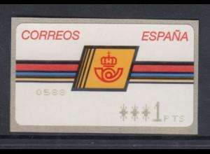 Spanien ATM Postemblem Typ II, Druck Epelsa mit Sternen Mi.-Nr. 4.2.2.1