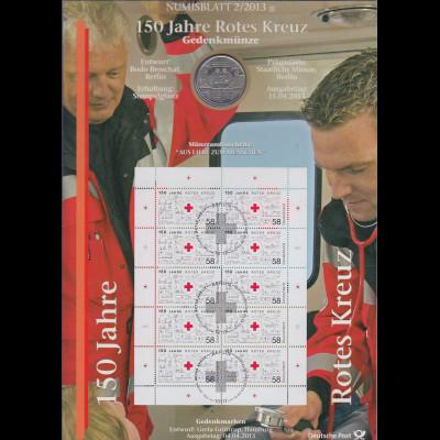 Bundesrepublik Numisblatt 2/2013 Märchen Rotes Kreuz mit 10-Euro-Gedenkmünze