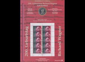 Bundesrepublik Numisblatt 3/2013 Richard Wagner mit 10-Euro-Gedenkmünze