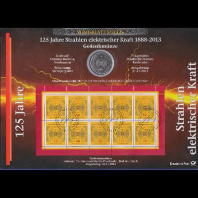 Bundesrepublik Numisblatt 5/2013 Heinrich Hertz mit 10-Euro-Gedenkmünze