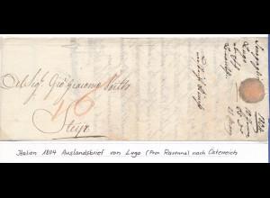 Italien 1804, Auslandsbrief von Lugo (Prov. Ravenna) nach Steyr (Österreich).