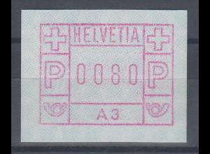 Schweiz 1976, 1. FRAMA-ATM Ausgabe A3 **, Werte 0080