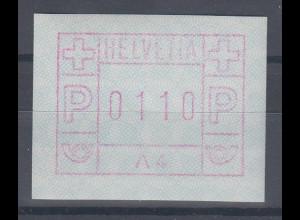 Schweiz 1976, 1. FRAMA-ATM Ausgabe A4 **, Werte 0110
