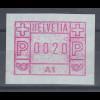 Schweiz 1976, 1. FRAMA-ATM Ausgabe A1 **, Wert 0020