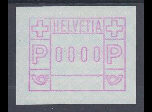 Schweiz 1978 FRAMA-ATM ohne Aut.-Nr. Mi.-Nr. 2 0000-Druck **