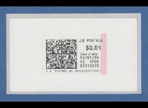 USA Internet-Frankaturmarke Januar 2004 (keine ATM), siehe Bild
