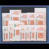 USA Internet-Frankaturmarken mit braunrotem Druck (keine ATM), Lot 12 Stück