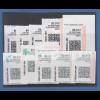 USA Internet-Frankaturmarken mit schwarzem Druck (keine ATM), Lot 10 Stück