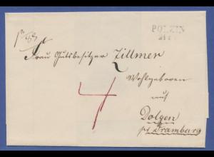 Vorphila-Brief mit Stempel POLZIN 21... , undatiert