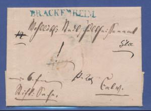 Vorphila-Brief mit blauem Stempel BRACKENHEIM (Württembg.) aus dem Jahr 1845