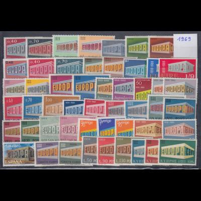 Europa-CEPT Jahrgang 1969 komplett postfrisch ** in einwandfreier Qualität