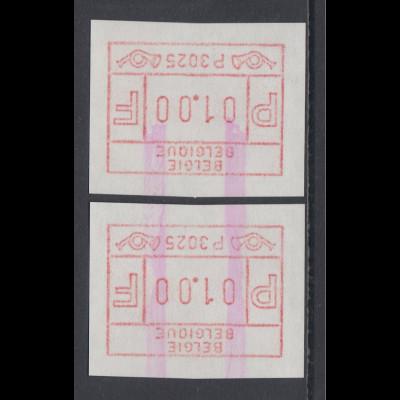 ATM Belgien ENDSTREIFEN-Rarität P3025 ES-Anfang über 2 ATM postfrisch