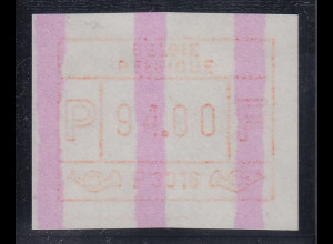 ATM Belgien ENDSTREIFEN-Rarität P3016 MAXIMUM-WERTFEHLDRUCK 94.00 postfrisch