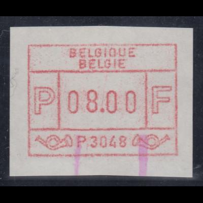 ATM Belgien ENDSTREIFEN-Rarität P3048 Endstück postfrisch UNIKAT ?