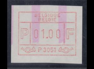 ATM Belgien ENDSTREIFEN-Rarität P3051 Anfangsstück postfrisch.
