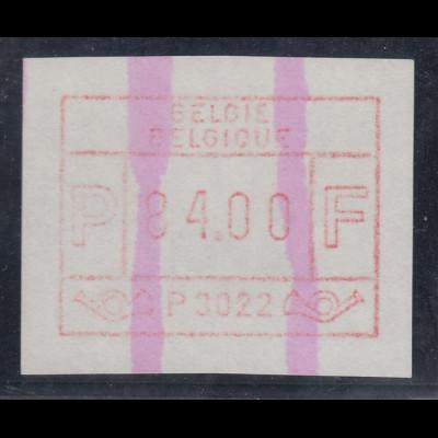 ATM Belgien ENDSTREIFEN-Rarität P3022 Höchstwertstufe 84.00 postfrisch.