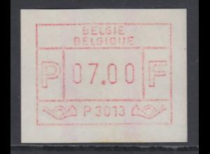 ATM Belgien ENDSTREIFEN-Rarität P3013 als GUMMIDRUCK postfrisch.