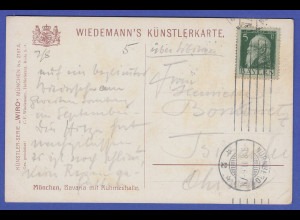 Bayern Bavaria München Postkarte 1911 gelaufen nach Tsingtau / China