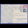 Berlin Mi.-Nr. 141 und 145 WOR auf portogerechter Bedarfs-Auslandspostkarte