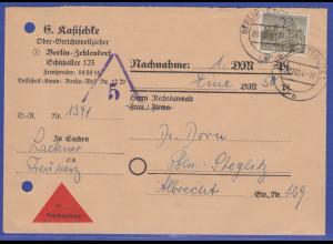 Berlin Mi.-Nr. 53 Einzelfrankatur auf Orts-NN-Brief Berlin-Steglitz