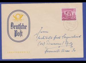 DDR 1955 Mi.-Nr. 445 B aus Block 10 auf FDC 30.10.54. aus Gotha SELTEN !