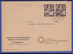 DDR 1950 Mi.-Nr. 277 als MEF auf Orts-Brief gel. innerh. von Chemnitz