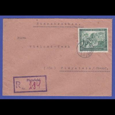 All.-Besetzung R-Brief von Pleinfeld gelaufen nach Pleystein , EF Mi.-Nr. 968