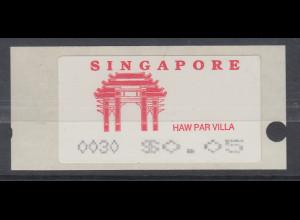 Singapur Almex-ATM 4. Ausgabe Haw Par Villa, Mi.-Nr. 4 **