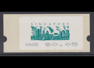 Singapur Almex-ATM 6. Ausgabe Skyline von Singapur, Mi.-Nr. 6 **