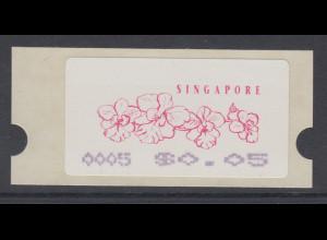 Singapur Almex-ATM 7. Ausgabe Orchideen, Mi.-Nr. 7 **