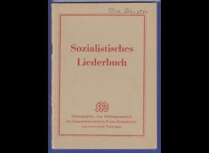 Sozialistisches Liederbuch 32 Seiten, vom SPD LV Thüringen, guter Zustand
