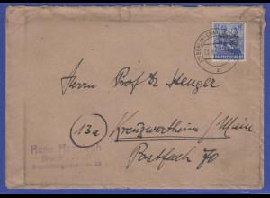 SBZ Mi.-Nr. 194 als EF auf Brief von Berlin-Charlottenburg -> Kreuzwertheim