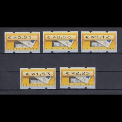 ATM Deutschland Briefkasten Sielaff Mi.-Nr. 5 VS2 Satz 5 Werte 0,51-2,25 **