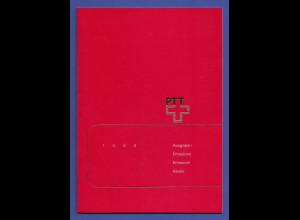 Schweiz amtliches Briefmarken-Jahrbuch der Post PTT 1990 komplett bestückt **