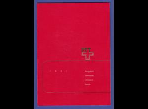 Schweiz amtliches Briefmarken-Jahrbuch der Post PTT 1991 komplett bestückt **