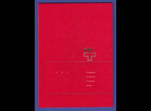 Schweiz amtliches Briefmarken-Jahrbuch der Post PTT 1992 komplett bestückt **