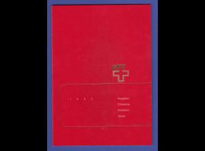 Schweiz amtliches Briefmarken-Jahrbuch der Post PTT 1993 komplett bestückt **
