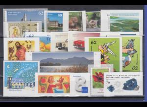 Bundesrepublik alle selbstklebenden Briefmarken des Jahrgangs 2015 komplett **