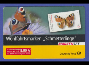 2005 Wohlfahrt Schmetterlinge. Markenheftchen ** mit 10 selbstkl. Marken MH 60