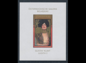 Österreich 2003, Blockausgabe Gustav Klimt Judith I, Mi.-Nr. Block 22 **