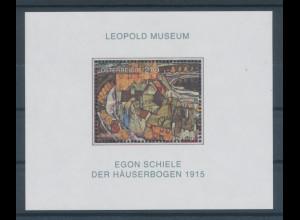 Österreich 2005, Blockausgabe Egon Schiele, Häuserbogen, Mi.-Nr. Block 29 **