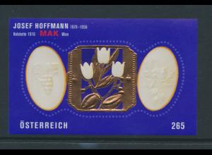 Österreich 2007, Blockausgabe Josef Hoffmann, Mi.-Nr. Block 40 **