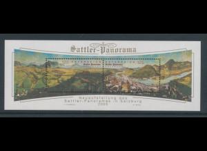 Österreich 2005, Blockausgabe Salzburg Sattler-Panorama, Mi.-Nr. Block 31 **