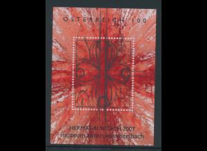 Österreich 2007, Blockausgabe Moderne Kunst H. Nitsch, Mi.-Nr. Block 37 **