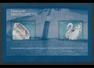 """Österreich 2004, Blockausgabe """"Swarovski Kristallwelten"""", Mi.-Nr. Block 25 **"""