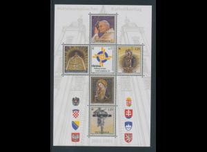 Österreich 2004, Blockausgabe Katholikentag Mariazell, Papst Johannes II. Bl. 24