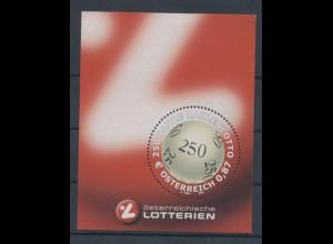 Österreich 2002, Blockausgabe 250 Jahre Zahlen-Lotto, Mi.-Nr. Bl. 17 **