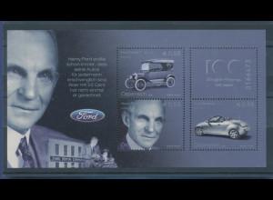 Österreich 2003, Blockausgabe 100 Jahre Ford-Automobile, Mi.-Nr. Bl. 20 **