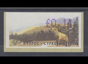 Zypern Amiel-ATM Ausgabe 1999, Mi.-Nr. 2 in Wertstufe L 0,14 **